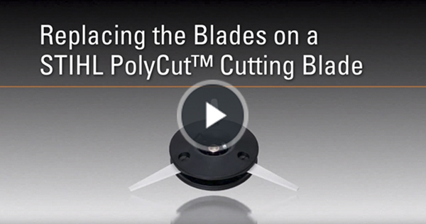 How to replace blades on the polycut video stihl usa greentooth Gallery
