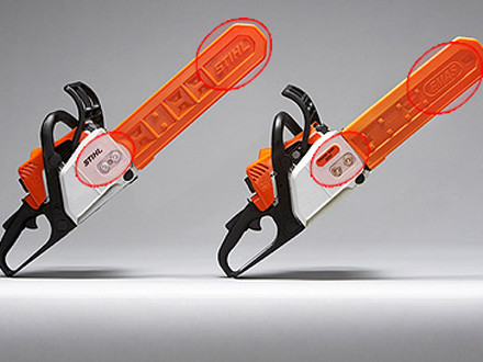fake stihl chainsaw