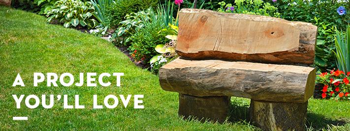 Rustic Garden Bench Diy Garden Benches Stihl Usa