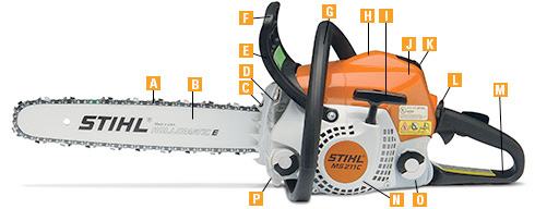 Stihl chainsaw features chainsaw details and specifications stihl chainsaw common features keyboard keysfo Images