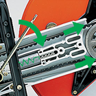 AA Semi-automatic belt tensioner - cut-off