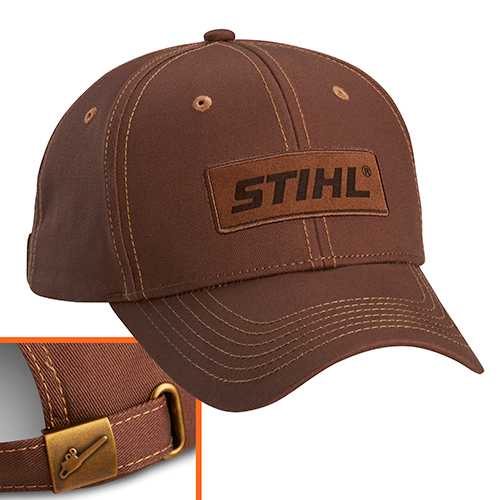Brown Suede Patch Cap