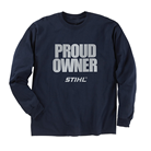 Navy Long-Sleeve PROUD OWNER T-Shirt