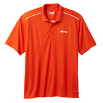 Textured Orange Polo