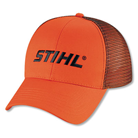 Orange double mesh-back cap