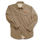 Dark Khaki Sherpa Lined Work Shirt