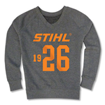 Ladies' grey crewneck sweatshirt