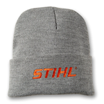Gray Knit Cuffed Beanie