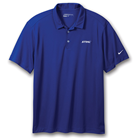 Royal Nike Golf Dri-FIT Vertical Mesh Polo