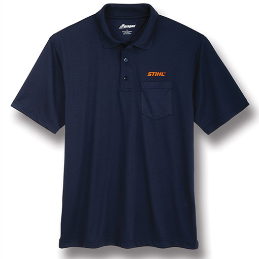 Navy Snag-Proof Pocket Polo