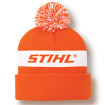 Orange and White Knit Cap