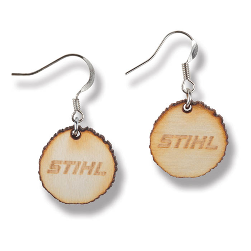 Wood Cookie Earrings