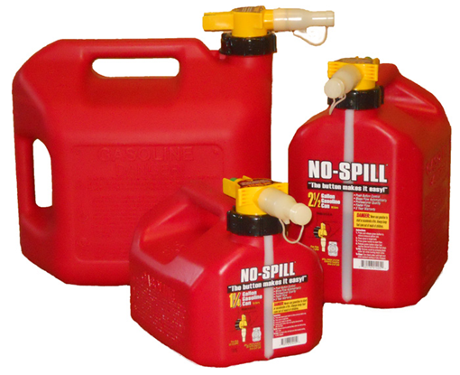 No-Spill® Fuel Containers