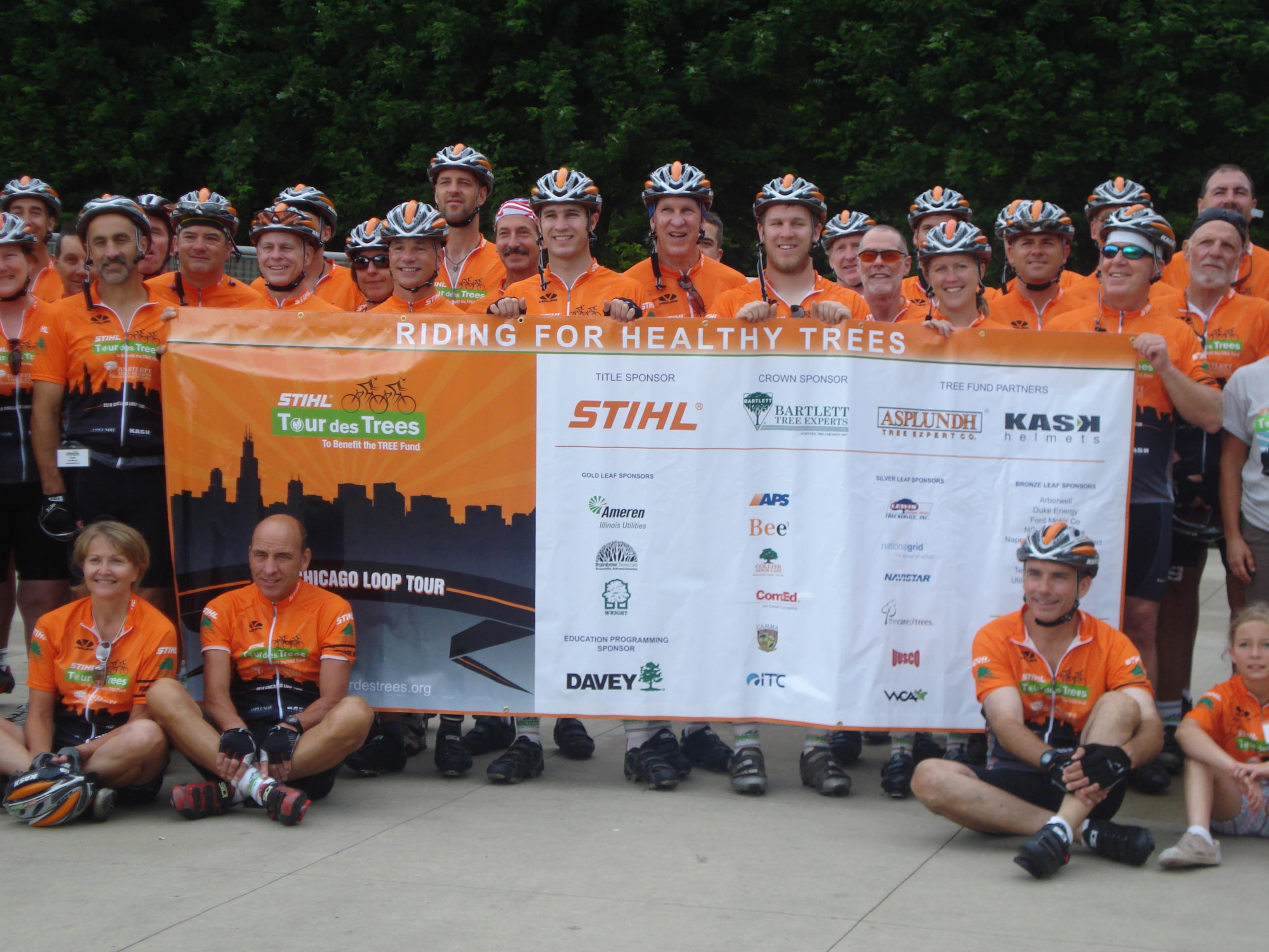 2010 STIHL Tour des Trees Riders in Chicago