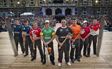 The world's top eight lumberjacks compete against each other for the 2014 STIHL® TIMBERSPORTS® Champions Trophy in Budapest