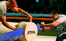 The 2014 STIHL® TIMBERSPORTS® U.S. Collegiate Championship will take place on June 20 to 22 at the Norfolk Scope Arena in Norfolk, Va.