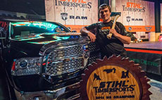 Matt Cogar wins the 2014 STIHL TIMBERSPORTS® Pro Championship for the second straight year