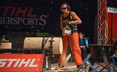 California Polytechnic State University's, Sam Mulholland-Wong was named the 2014 STIHL TIMBERSPORTS® Collegiate Champion this weekend at the Norfolk Scope Arena