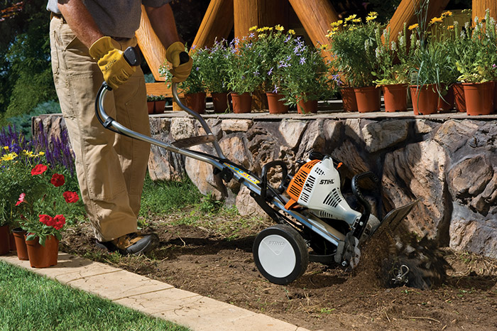 using a universal power train this cultivator can transition into other useful tools for around the home or farm - Use Garden Tiller